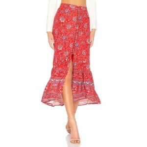 MINKPINK Lucia Swim Cover-Up Maxi Skirt L Floral